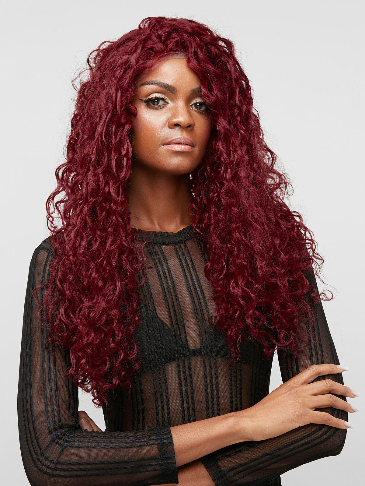 Outfits Long Free Part Wave Curly Synthetic Lace Front Wig