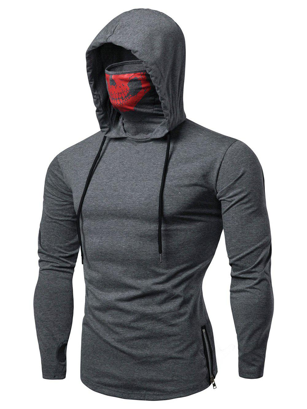 Best Fashion Drawstring Scare Mask Hoodie for Man