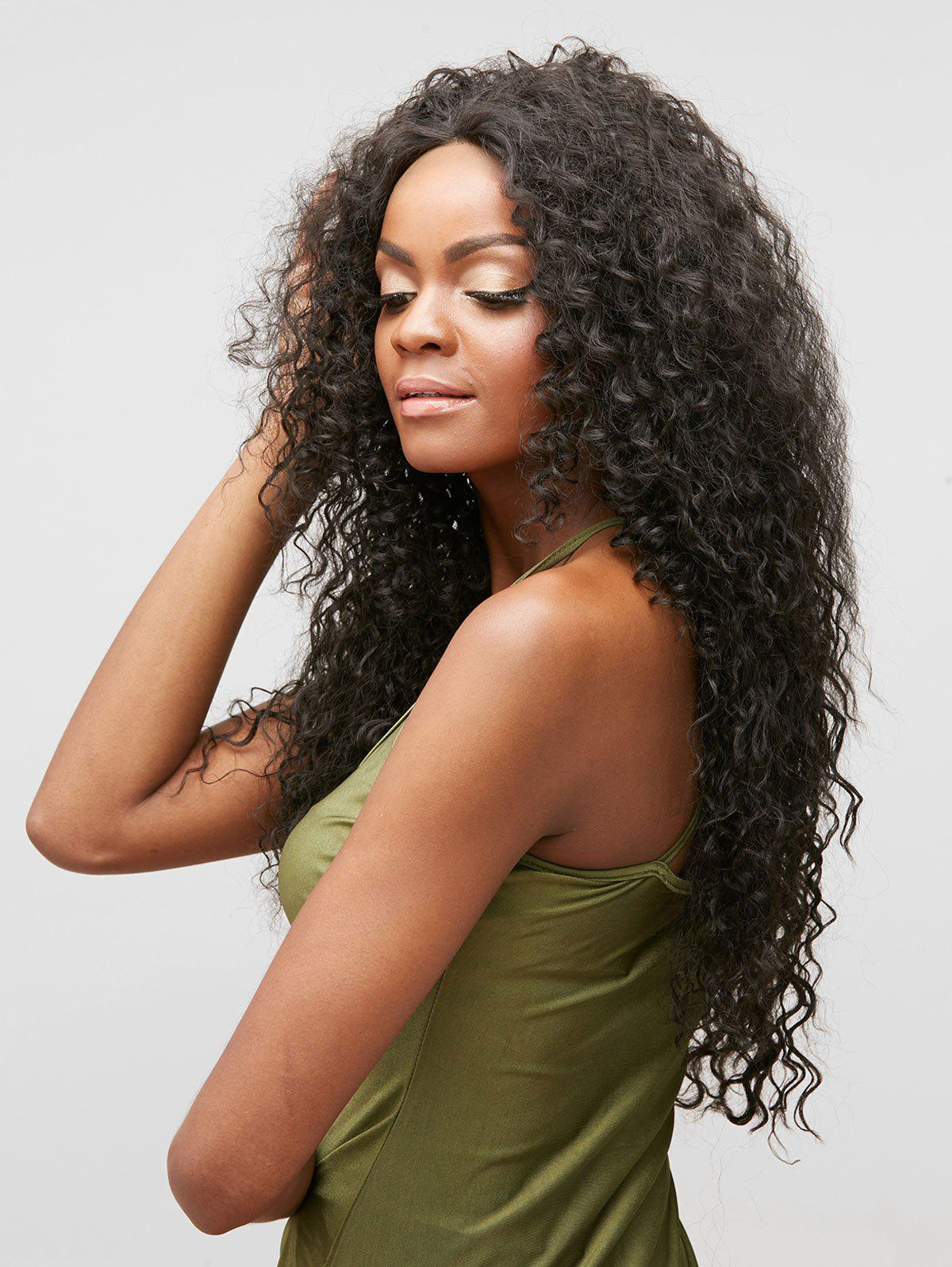 Chic Long Free Part Curly Lace Front Heat Resistant Synthetic Wig