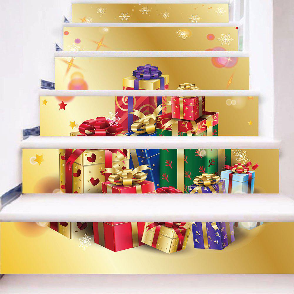 Chic Christmas Gifts Print Removable Stair Stickers