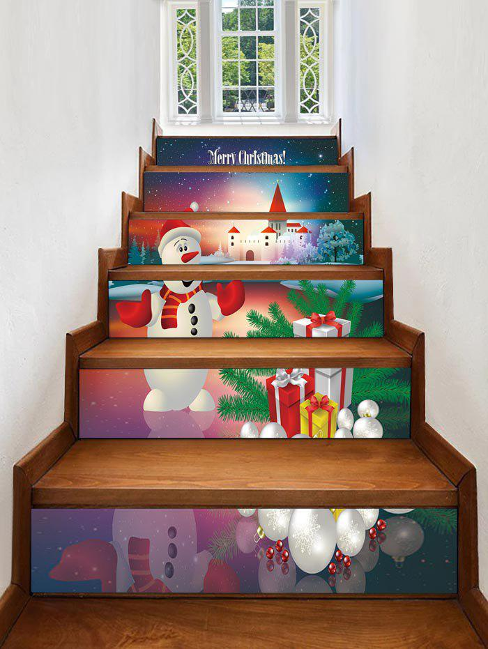 Online Christmas Gifts Snowman Pattern Stair Stickers