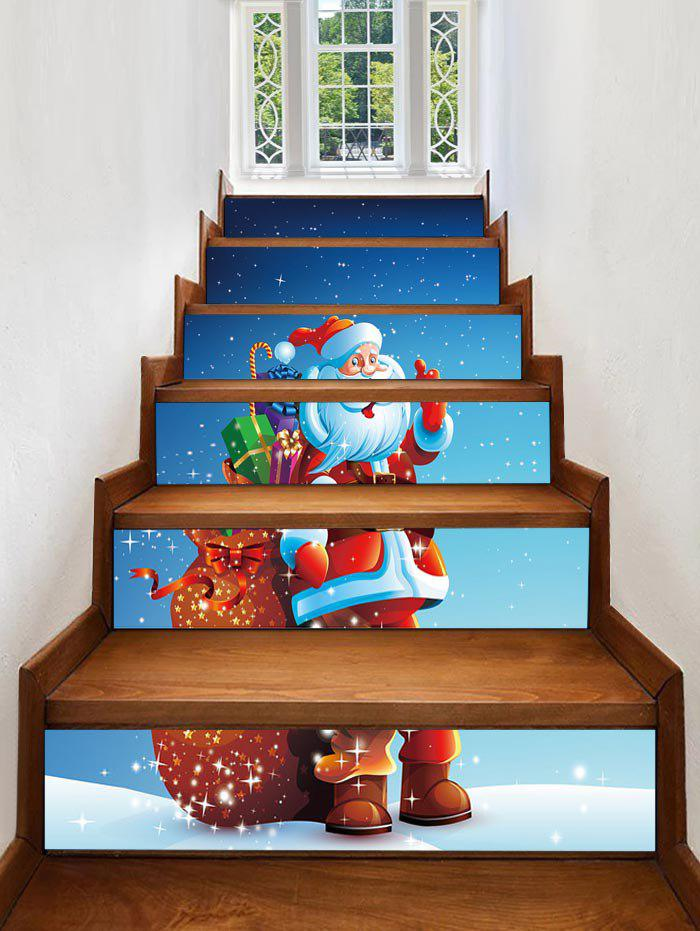 Fashion Father Christmas Gift Printed Removable Stair Stickers