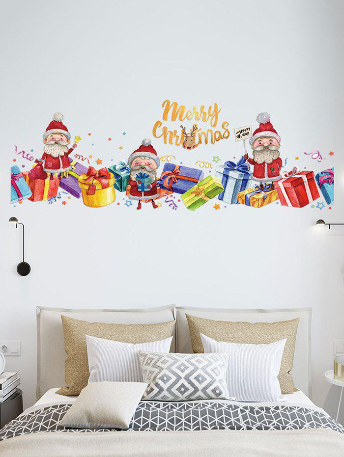 Merry Christmas Santa Claus Gift Removable Wall Sticker