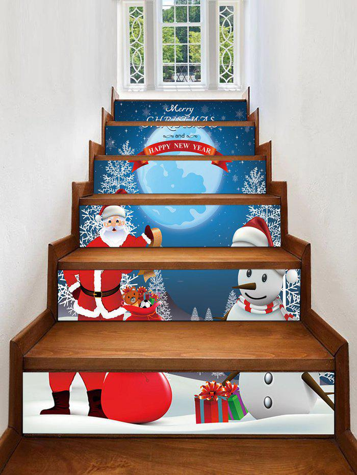 Affordable Santa Claus Snowman Christmas Stair Stickers
