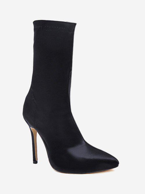Chic Pointed Toe High Heel Sock Boots