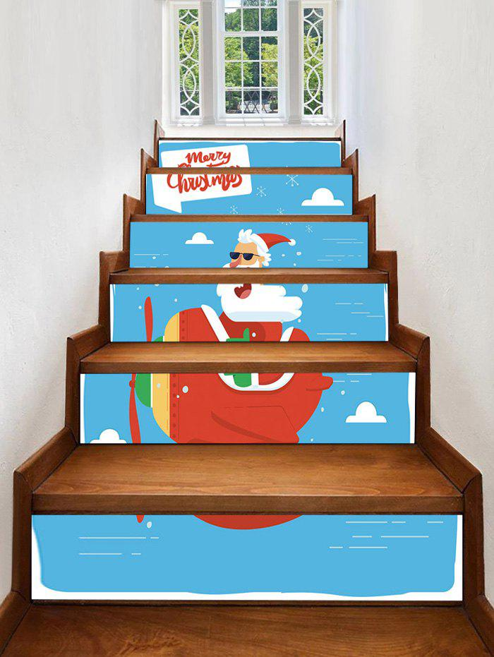 Outfits Father Christmas Plane Printed Removable Stair Stickers