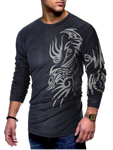 71f1634e6611 Metallic Totem Printed Crew Neck T-shirt