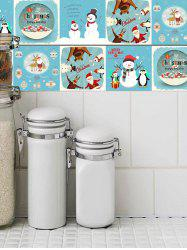 Christmas Theme Pattern Tile Stickers -