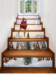 Christmas Tree Printed Removable Stair Stickers -