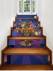 Christmas Tree Star Removable Stair Stickers -