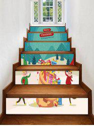 Merry Christmas Gift Printed Removable Stair Stickers -