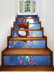 Father Christmas Gift Removable Stair Stickers -