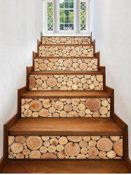 3D Wooden Printed Removable Stair Stickers -