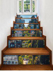 3D City Street Printed Removable Stair Stickers -