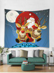 Christmas Santa Sleigh Print Tapestry Wall Hanging Decoration -