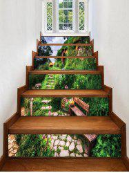 Stone House Printed Removable Stair Stickers -