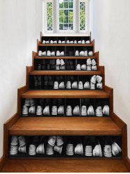 3D Shoe Cabinet Printed Removable Stair Stickers -