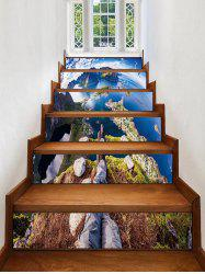 3D Earth Printed Removable Stair Stickers -