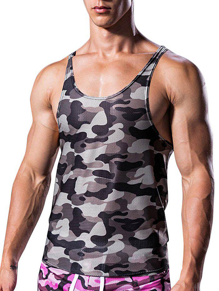 Online Camouflage Pattern I-shaped Tank Top