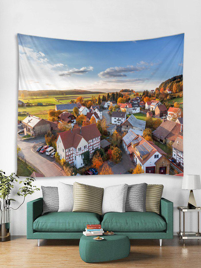 Cheap Village Print Tapestry Wall Hanging Art Decoration