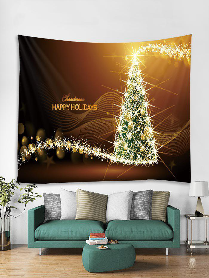 Chic Christmas Tree Starlight Print Tapestry Wall Hanging Decoration
