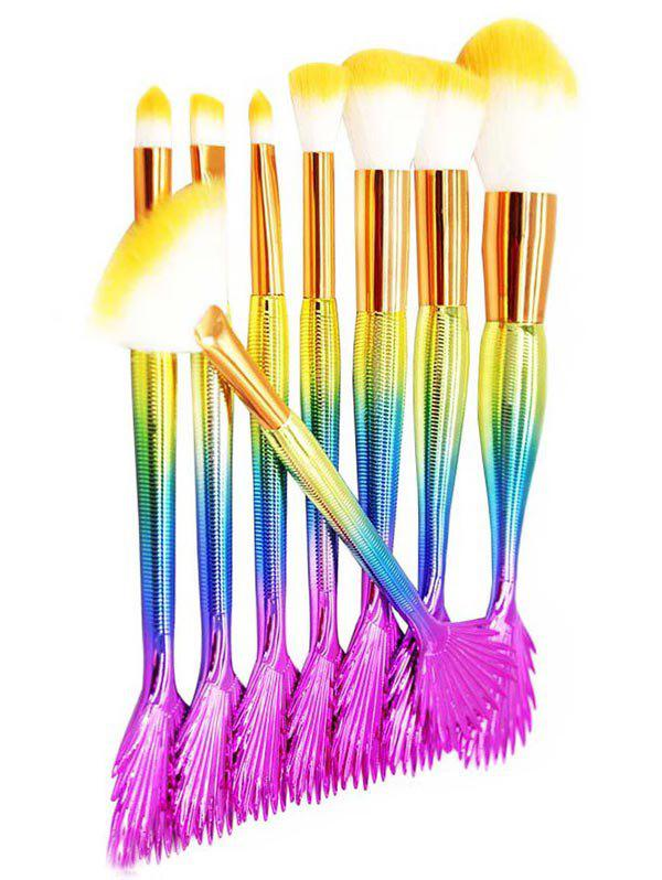 Outfits 10Pcs Fan Shaped Mermaid Tail Makeup Brushes