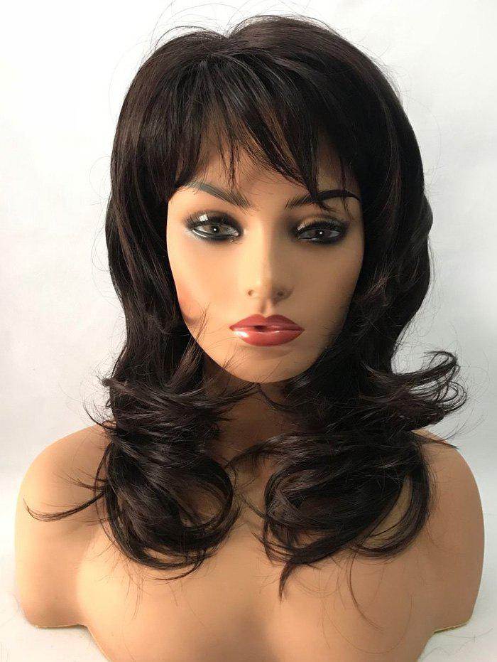 Online Long Side Bang Natural Straight Capless Synthetic Wig