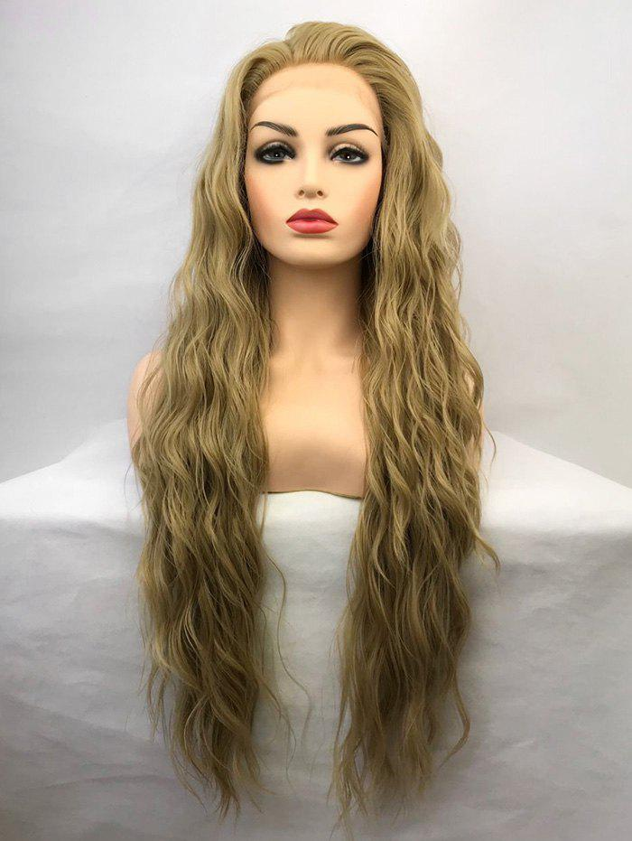 Shop Long Length Natural Wavy Party Synthetic Lace Front Wig