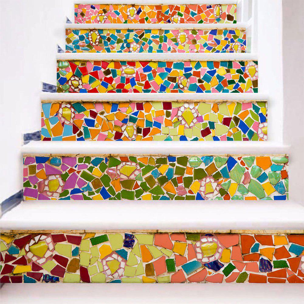 Store Removable Brick Wall Print Stair Stickers