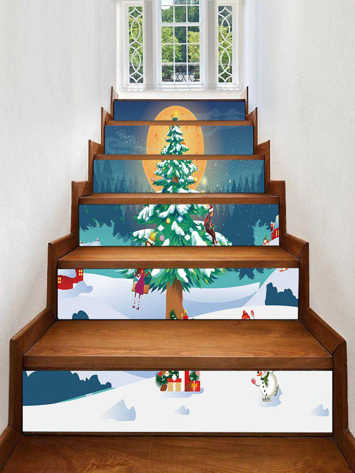 Outfit Christmas Tree Snowman Removable Stair Stickers