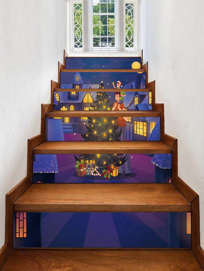 Best Christmas Tree Star Removable Stair Stickers