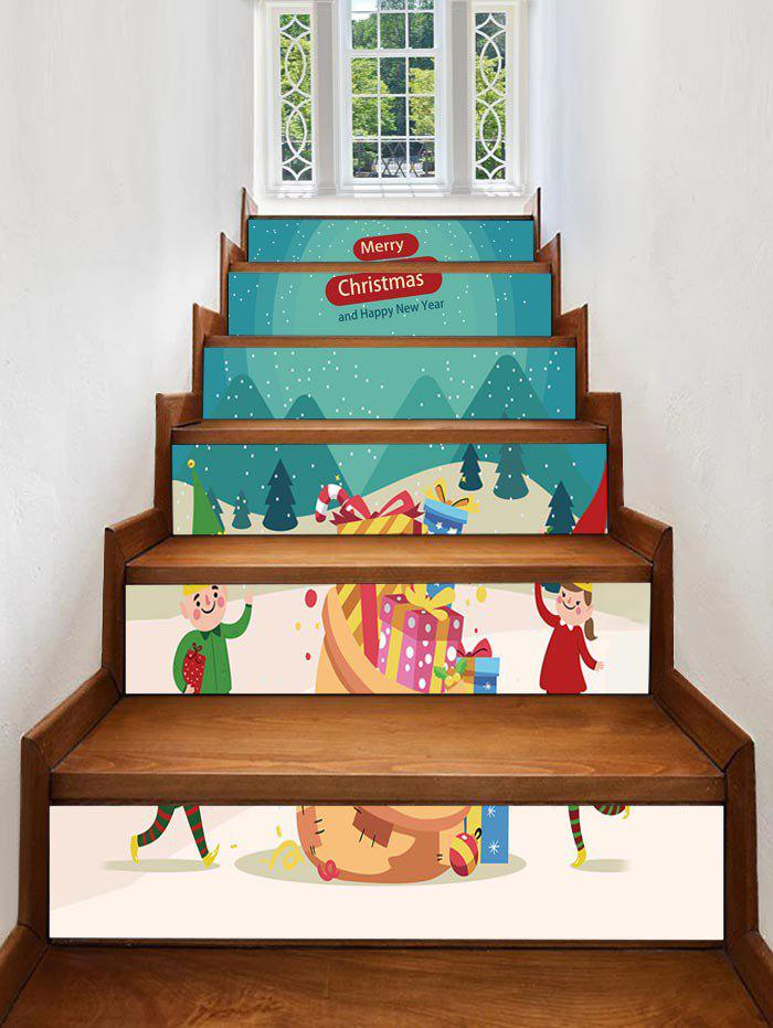 Online Merry Christmas Gift Printed Removable Stair Stickers