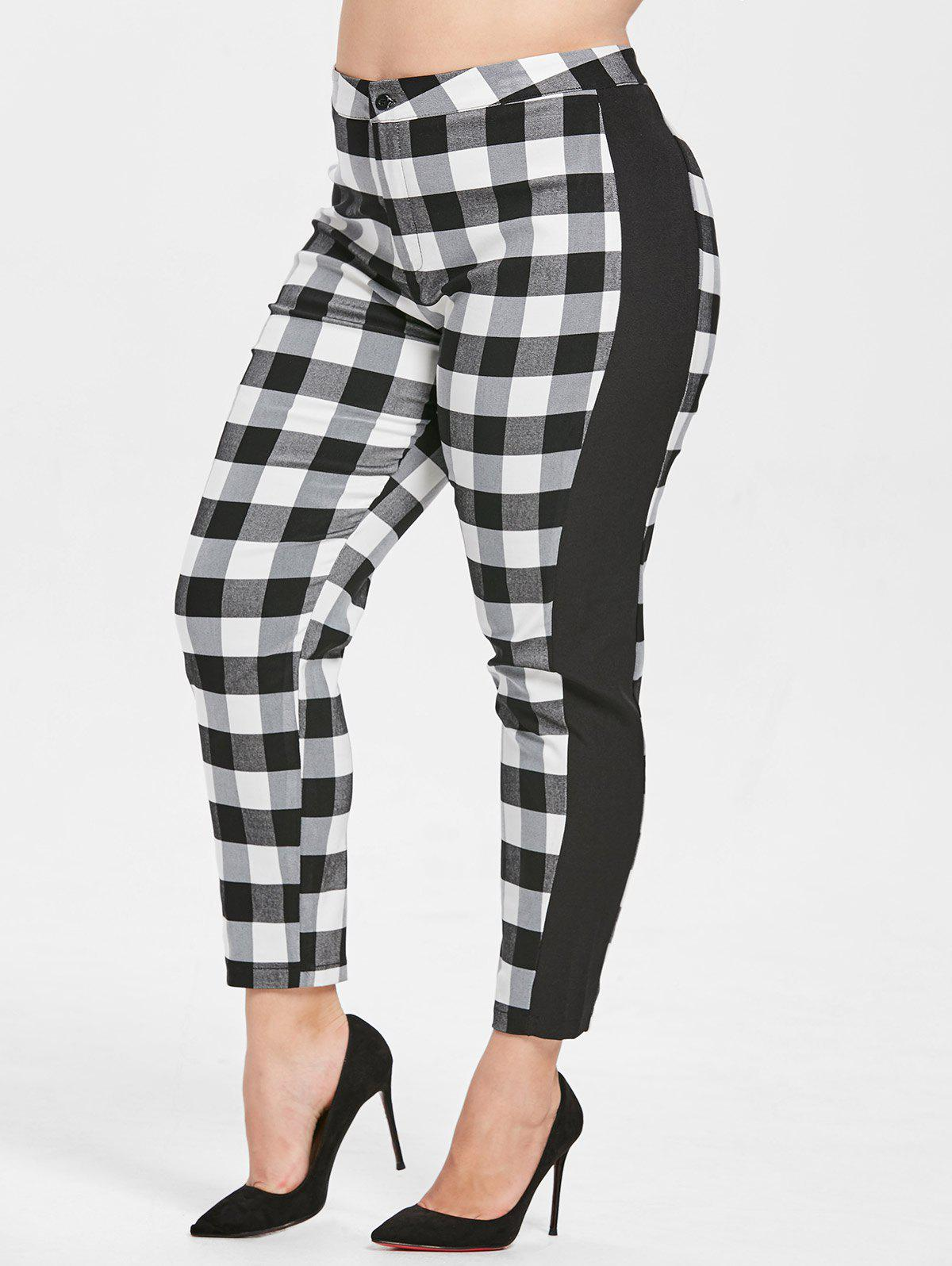 Shops Plus Size Fitted Tartan Pants