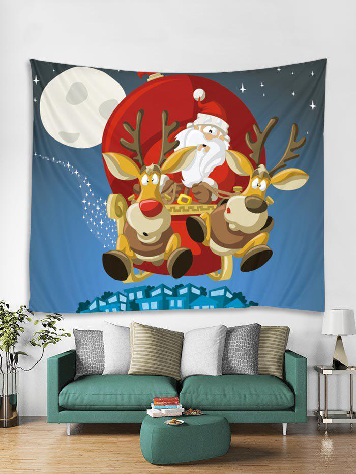 Buy Christmas Santa Sleigh Print Tapestry Wall Hanging Decoration