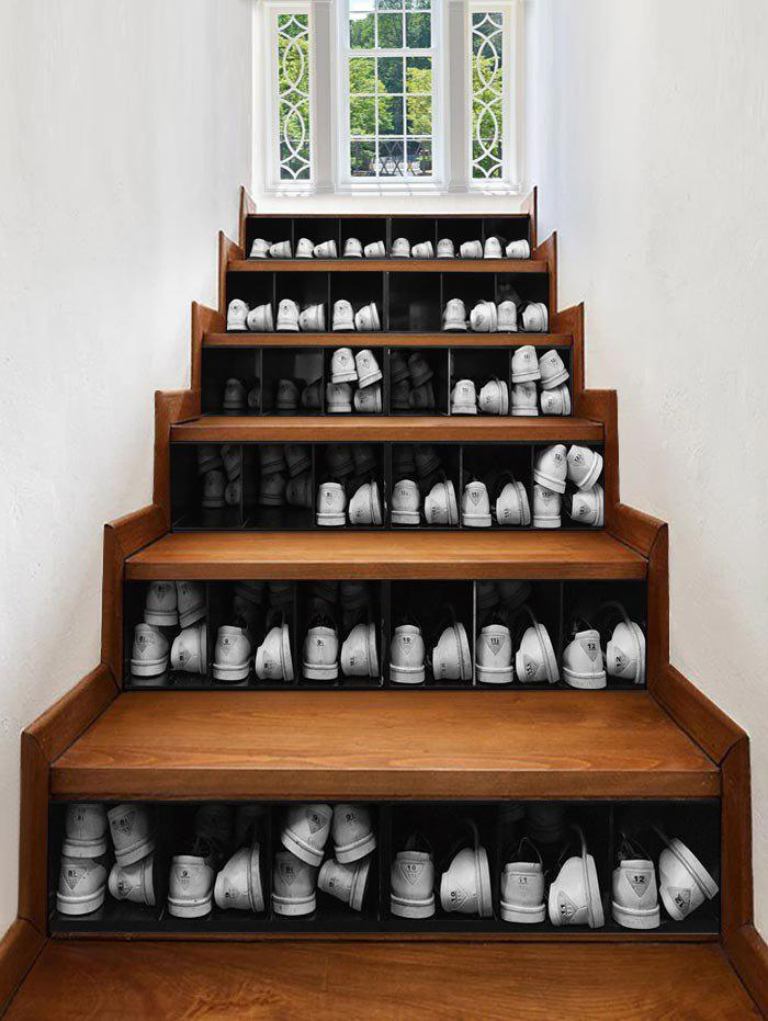 Shop 3D Shoe Cabinet Printed Removable Stair Stickers