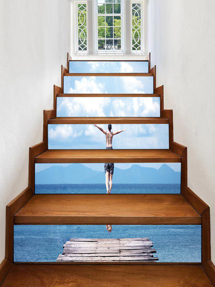 Latest Sea Diving Printed Removable Stair Stickers