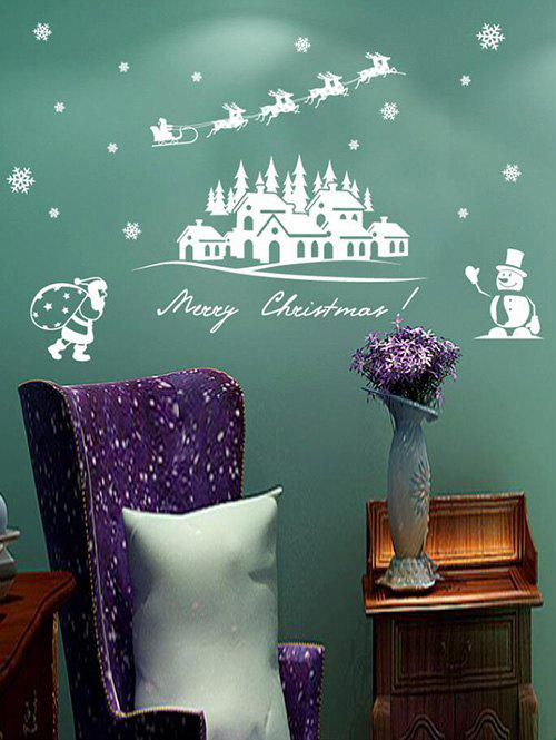 Merry Christmas Snowman Decorative Removable Wall Sticker