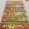Removable Brick Wall Print Stair Stickers -