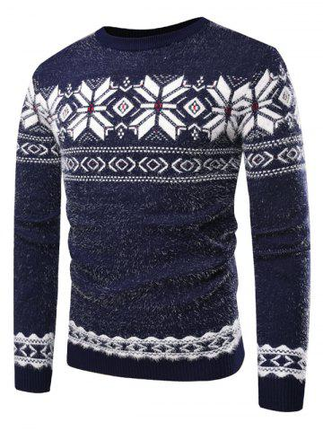 Casual Snowflake Geometry Print Sweater