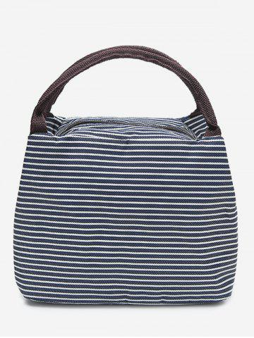 6dee3fb6aa Striped Shape Portable Lunch Tote Bag