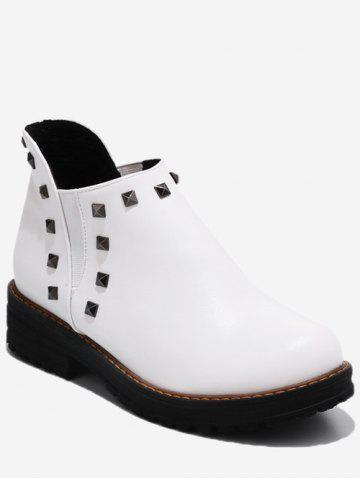 Plus Size Studded Ankle Chelsea Boots