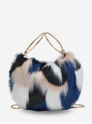 Statement Fluffy Link Chain Tote Bag -