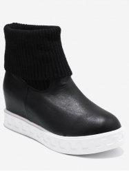 Plus Size Fold Over Short Sock Boots -