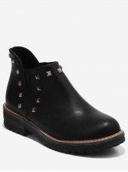 Plus Size Studded Ankle Chelsea Boots -