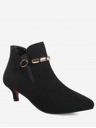 Plus Size Pointed Toe Ankle Strap Boots -
