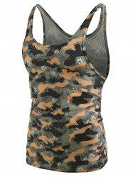 Camouflage Pattern I-shaped Tank Top -