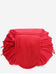 Solid Color Cosmetic Large Capacity Toiletry Bag -