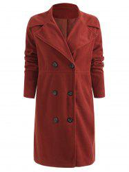 Double Breasted Lapel Long Winter Coat -