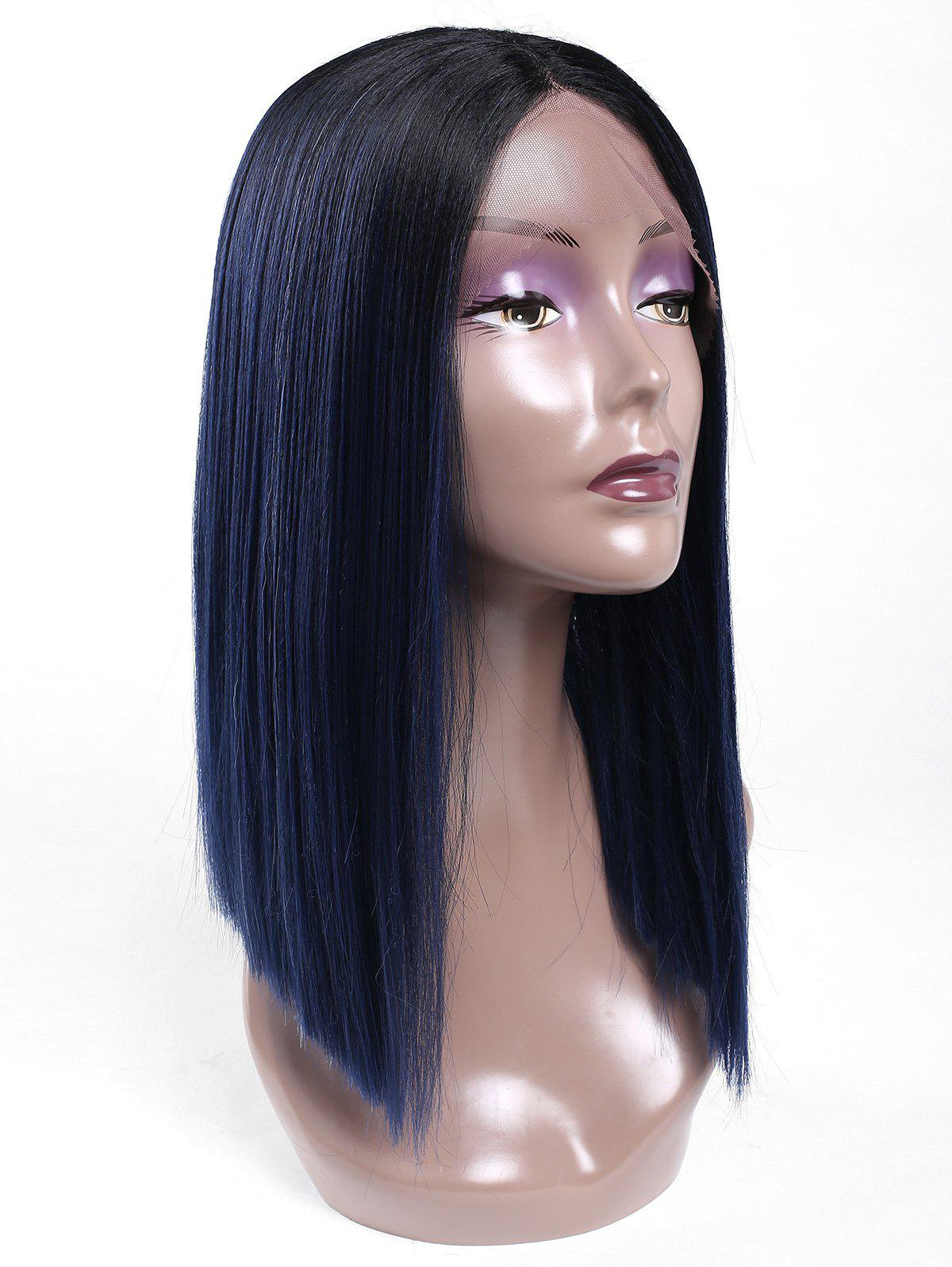 Affordable Medium Center Parting Blunt Lob Straight Lace Front Synthetic Wig