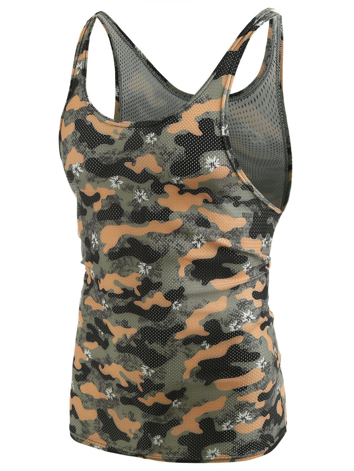 Unique Camouflage Pattern I-shaped Tank Top